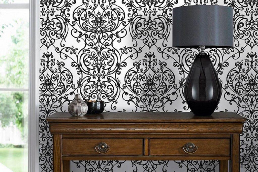 Pomysł naaranżację ścian – tapety black&white