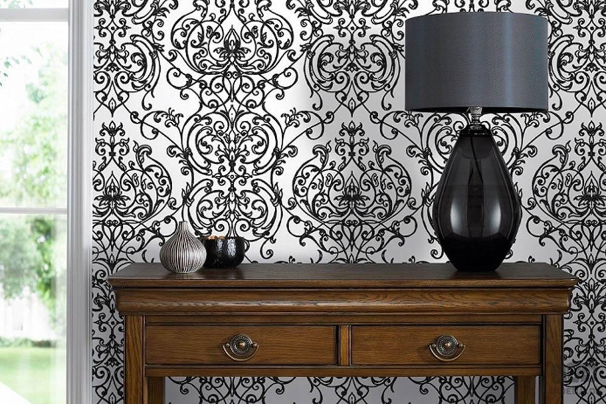 Pomysł na aranżację ścian - tapety black&white